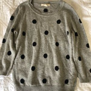 Polka dot crewneck sweater